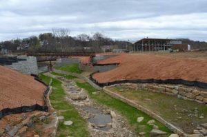 Photo: 'Penland Creek restoration in progress'