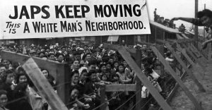 Japs Keep Moving sign from WWII Japanese Internment Camp.