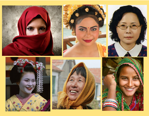 Six Faces of Asian Descent.
