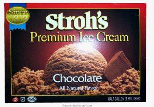 Stroh's Ice Cream Container.