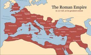 The Roman Empire map.